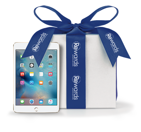 Rewards Present and iPad